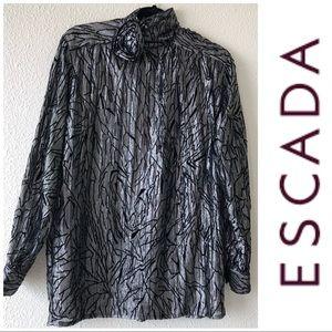 EACADA By Margaretha Ley Black & Gray Metallic Top